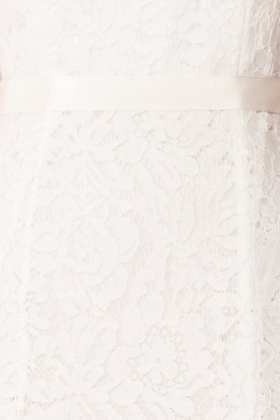 Uranie Ivoire Ivory Lace Mermaid Gown | Boudoir 1861 fabric detail
