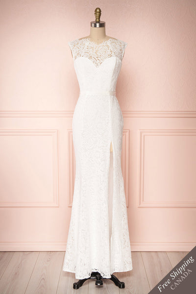 Uranie Ivoire Ivory Lace Mermaid Gown | Boudoir 1861 front view