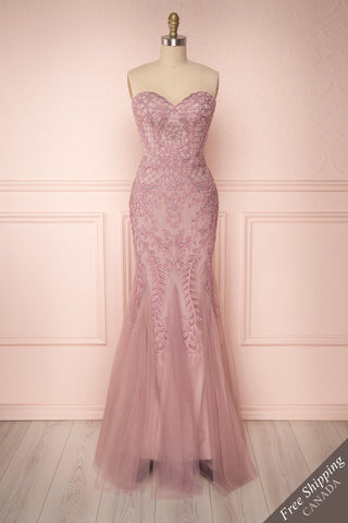 Vizma Lilas Lilac Tulle Mermaid Gown | Boutique 1861