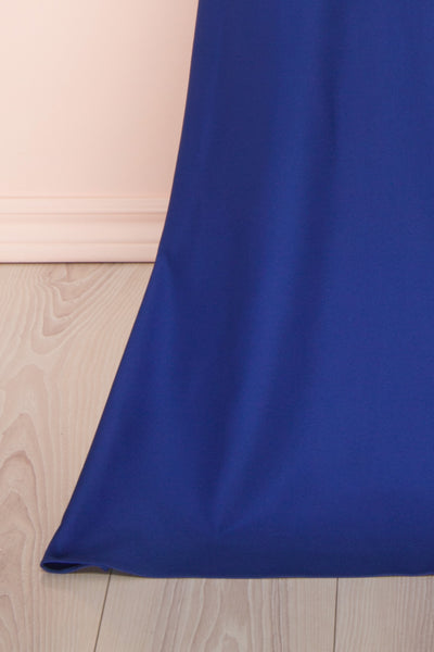 Vallata Bleuet Royal Blue Maxi Dress | La petite garçonne bottom