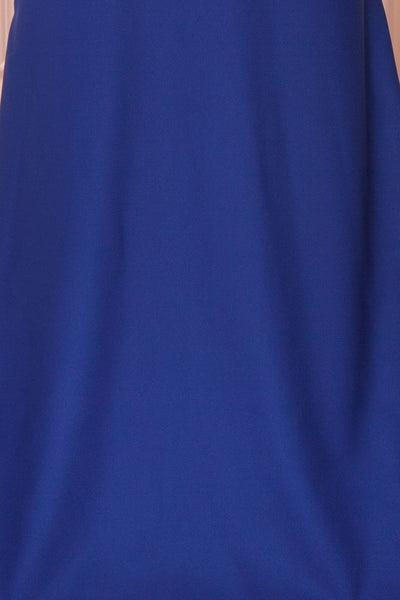 Vallata Bleuet Royal Blue Maxi Dress | La petite garçonne fabric