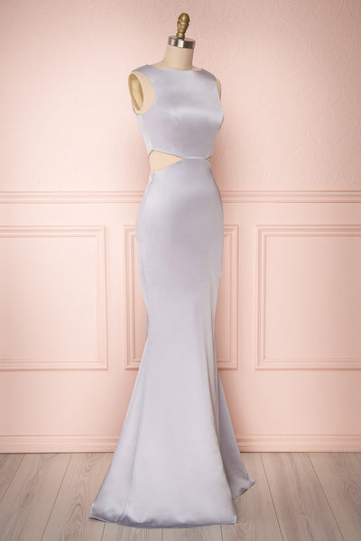Vallata Gris Satin | Grey Mermaid Gown