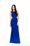 Vallata Bleuet Royal Blue Maxi Dress | La petite garçonne model