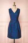 Vanko Blue Cocktail Dress with Embroidery | Boutique 1861