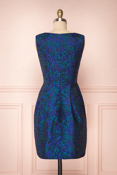 Vanko Blue Cocktail Dress with Embroidery | Boutique 1861 back view