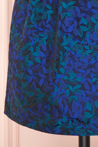 Vanko Blue Cocktail Dress with Embroidery | Boutique 1861 bottom close-up
