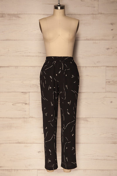 Vanniers Black & White Patterned Lounge Pants | La Petite Garçonne