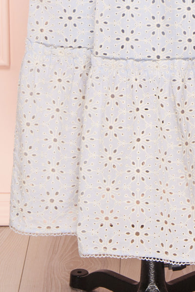 Vanolie Baby Blue English Embroidered Dress | Boutique 1861 bottom