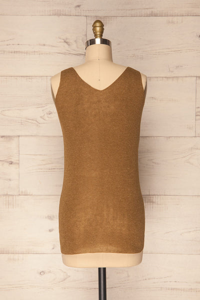 Baionas Khaki Green Button-Up Tank Top | La Petite Garçonne 6
