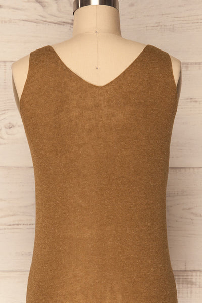 Baionas Khaki Green Button-Up Tank Top | La Petite Garçonne 7