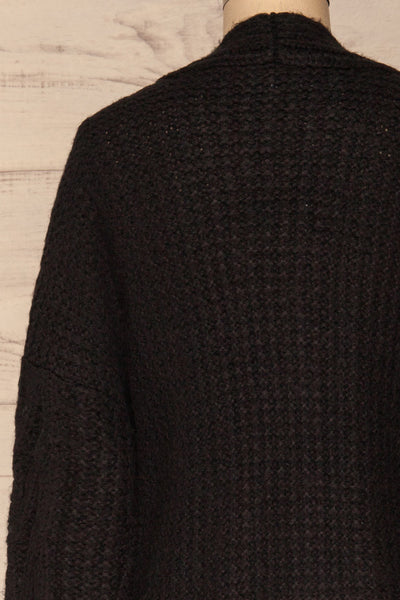 Varvarin Black Knit Cardigan | La Petite Garçonne back close-up