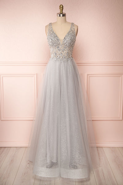 Vatrouchka Grey Tulle & Crystal Gown | Robe | Boutique 1861