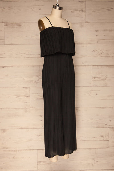 Venlo Blackberry Black Pleated Jumpsuit | La petite garçonne  side view