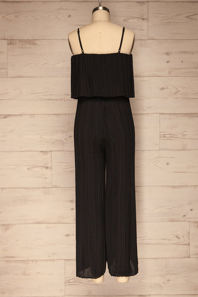Venlo Blackberry Black Pleated Jumpsuit | La petite garçonne  back view