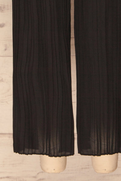 Venlo Blackberry Black Pleated Jumpsuit | La petite garçonne  bottom