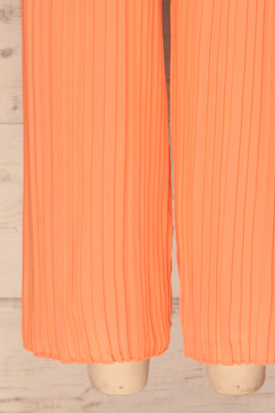 Venlo Grapefruit Coral Pleated Jumpsuit | La petite garçonne  bottom