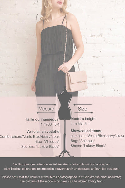 Venlo Blackberry Black Pleated Jumpsuit | La petite garçonne template