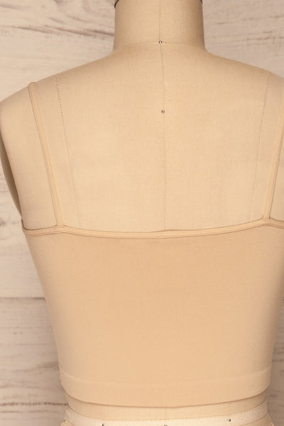Veere Beige Cropped Cami w/ Thin Straps | La petite garçonne back close up