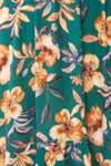 Verrina Green High-Low Floral Summer Dress | Boutique 1861 fabric detail
