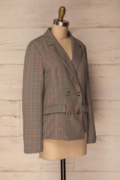 Landéan Colourful Plaid Double Breasted Jacket | La Petite Garçonne 6