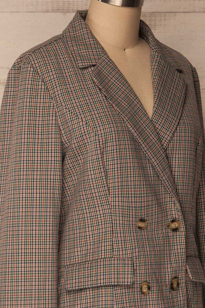Landéan Colourful Plaid Double Breasted Jacket | La Petite Garçonne 5
