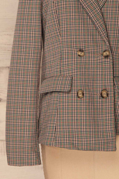 Landéan Colourful Plaid Double Breasted Jacket | La Petite Garçonne 9