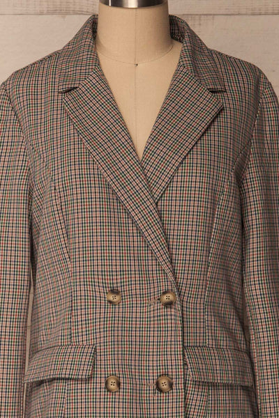 Landéan Colourful Plaid Double Breasted Jacket | La Petite Garçonne 3