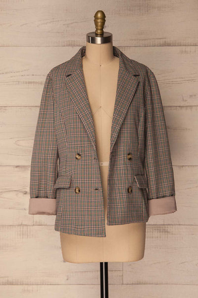 Landéan Colourful Plaid Double Breasted Jacket | La Petite Garçonne 4