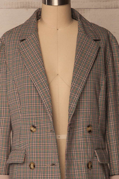 Landéan Colourful Plaid Double Breasted Jacket | La Petite Garçonne 2