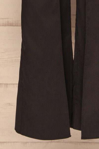 Vetlanda Black Strapless Slit Jumpsuit leg close up | La petite garçonne