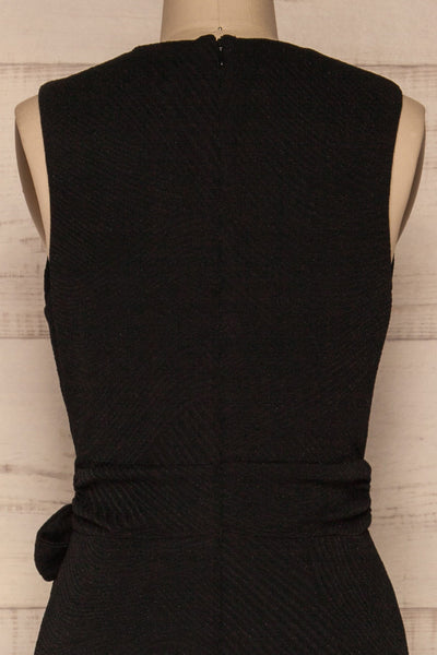 Viatrix Black Jumpsuit | Combinaison | La Petite Garçonne back close-up