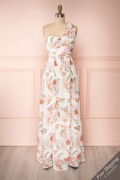 Vibrissa White Floral Lace Maxi Dress | Boutique 1861