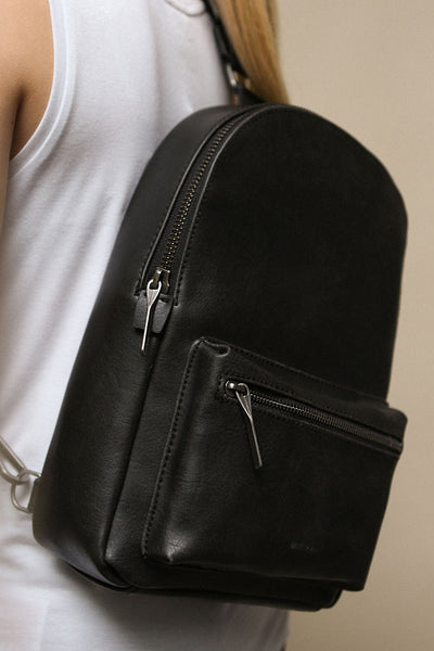 Voasa Black Vegan Leather Backpack | La Petite Garçonne Chpt. 2 11