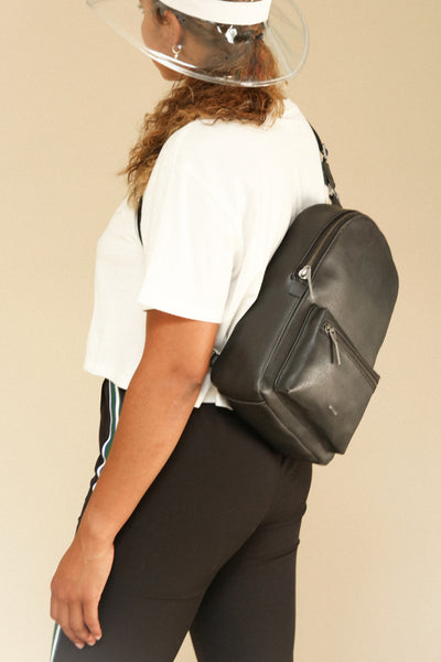 Voasa Black Vegan Leather Backpack | La Petite Garçonne Chpt. 2 2