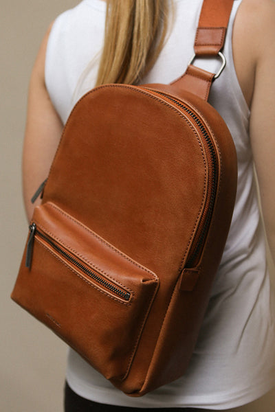 Voasa Chili Brown Vegan Leather Backpack | La Petite Garçonne Chpt. 2