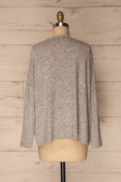 Wail Stone Gray Soft Knit Sweater Top | La Petite Garçonne 5