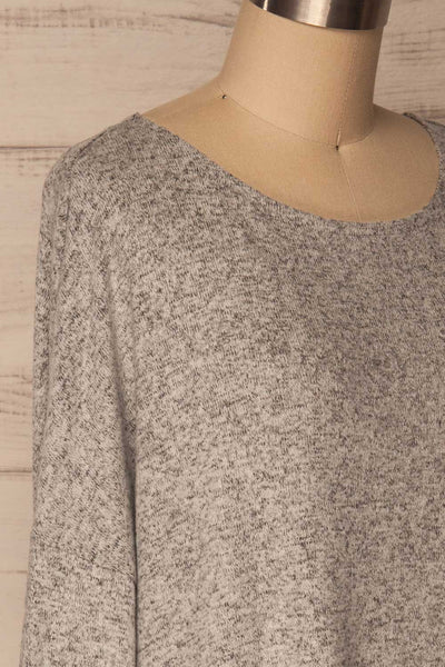 Wail Stone Gray Soft Knit Sweater Top | La Petite Garçonne 4