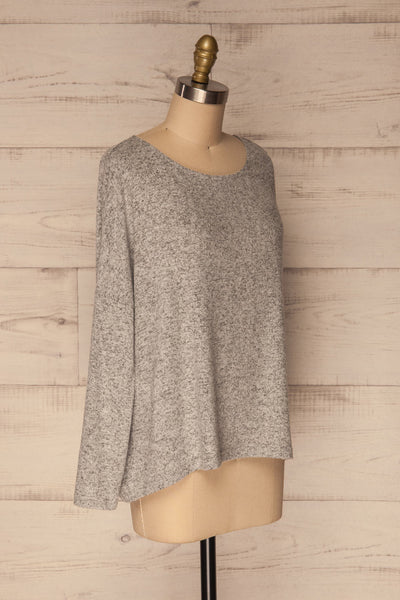 Wail Stone Gray Soft Knit Sweater Top | La Petite Garçonne 3