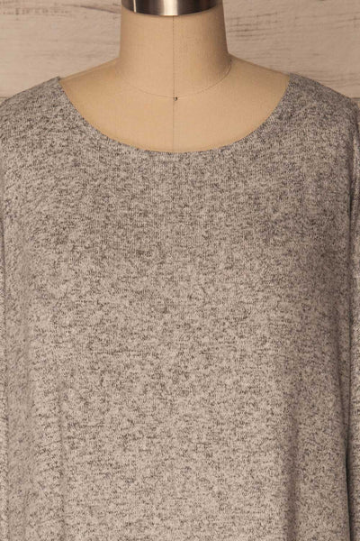 Wail Stone Gray Soft Knit Sweater Top | La Petite Garçonne 2
