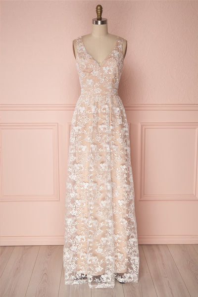 Wakana White Embroidered Bridal Gown | Boudoir 1861
