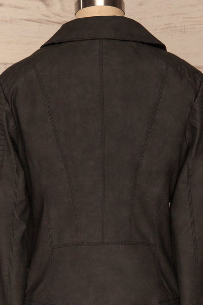 Washington Black Faux Leather Motorcycle Jacket | La Petite Garçonne 8