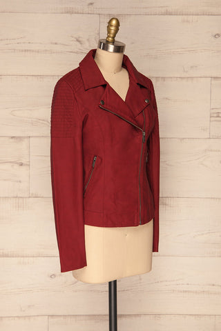 Washington Red Faux Leather Motorcycle Jacket | La Petite Garçonne 5