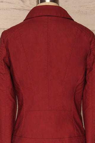 Washington Red Faux Leather Motorcycle Jacket | La Petite Garçonne 8