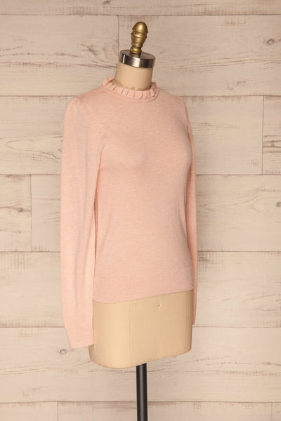 Wigan Rose Knit Sweater | Tricot Rose | La petite garçonne side view