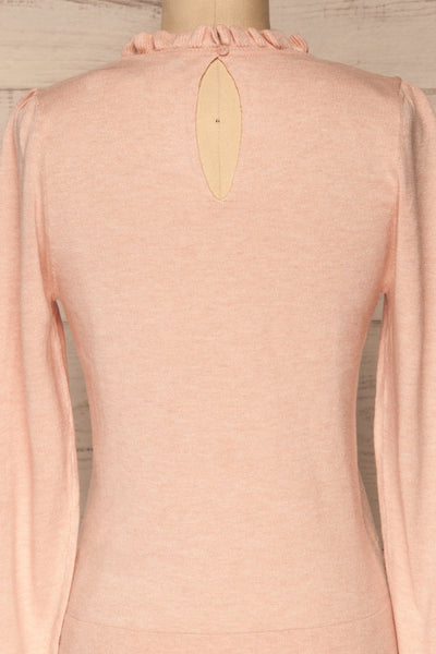 Wigan Rose Knit Sweater | Tricot Rose | La petite garçonne back close-up