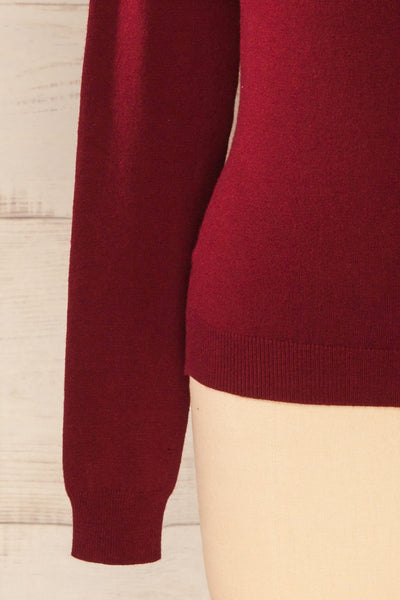 Winschoten Burgundy Long Sleeve Turtleneck | La petite garçonne bottom