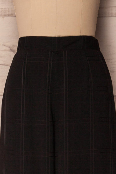 Woking Black Checkered Wide Leg Pants | La Petite Garçonne 2