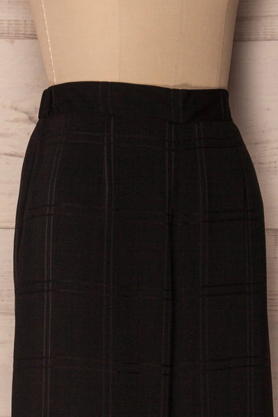 Woking Black Checkered Wide Leg Pants | La Petite Garçonne 4