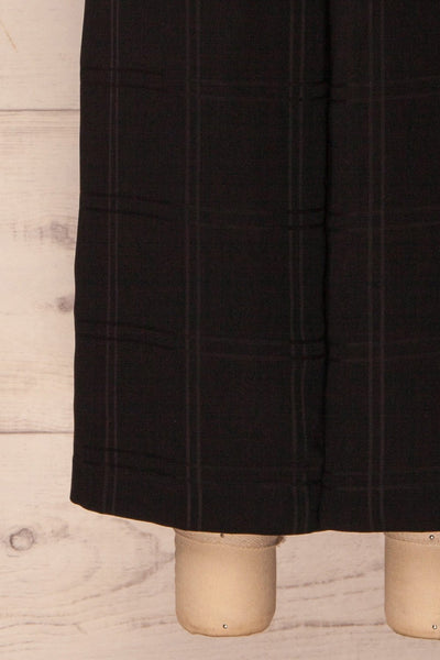 Woking Black Checkered Wide Leg Pants | La Petite Garçonne 7