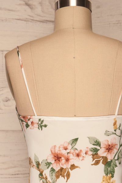 Yekaterina White Floral Tank Top back close up | La petite garçonne